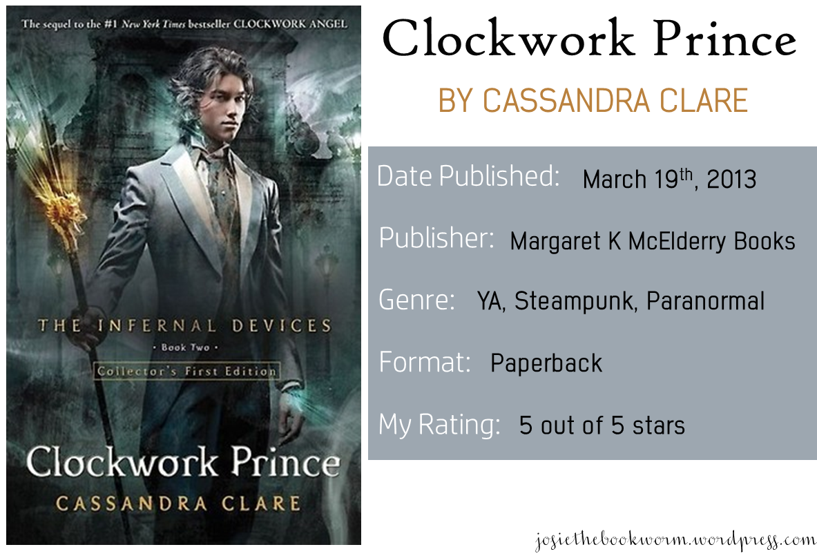 clockwork prince book free